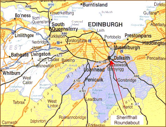 How to get to Eskbank Guest House B&B Dalkeith near Edinburgh